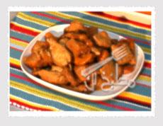 مربعات الدجاج بالعسل والكاجو